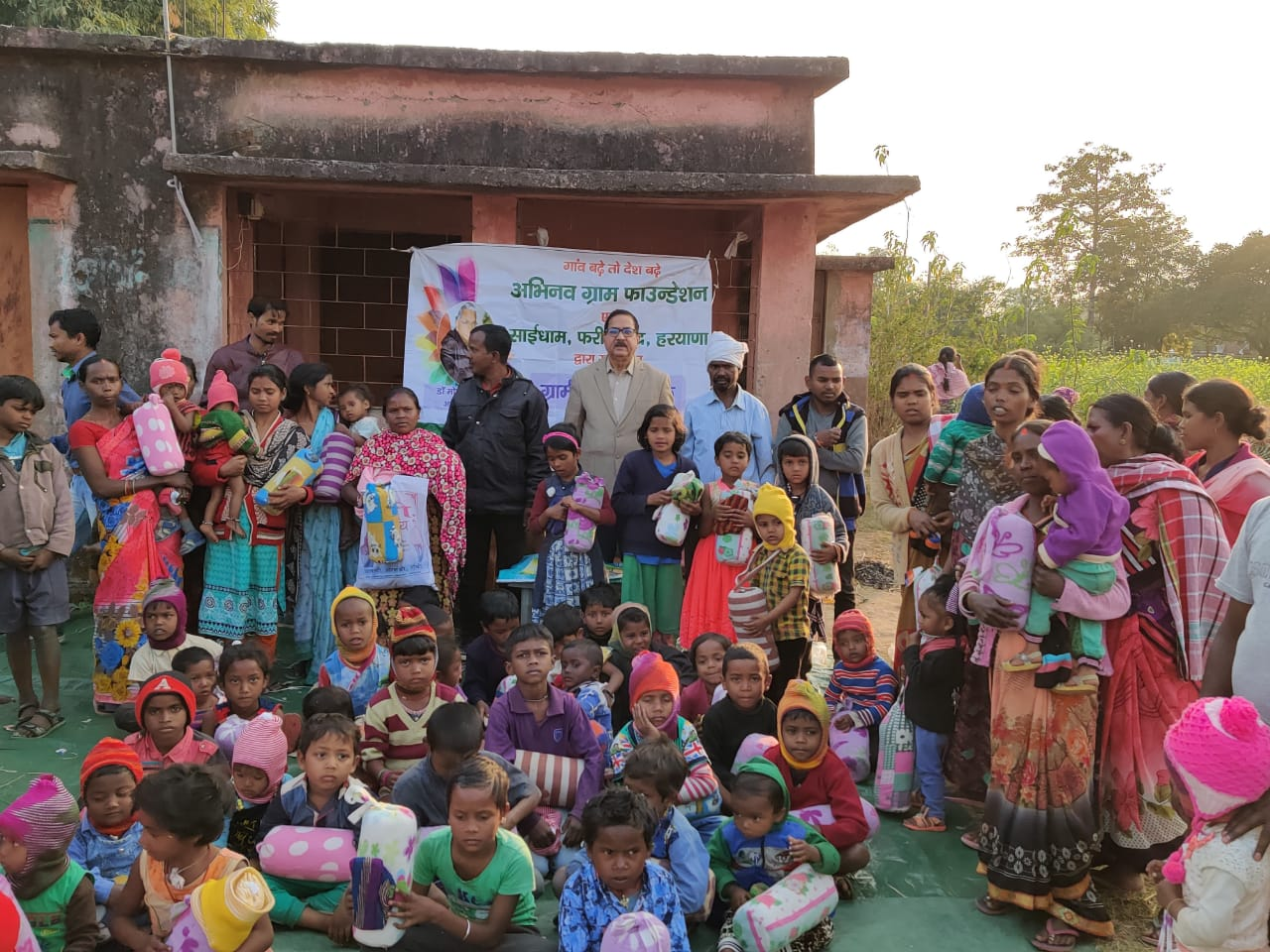 Clothes distribution at ormanjhi, jharkhand