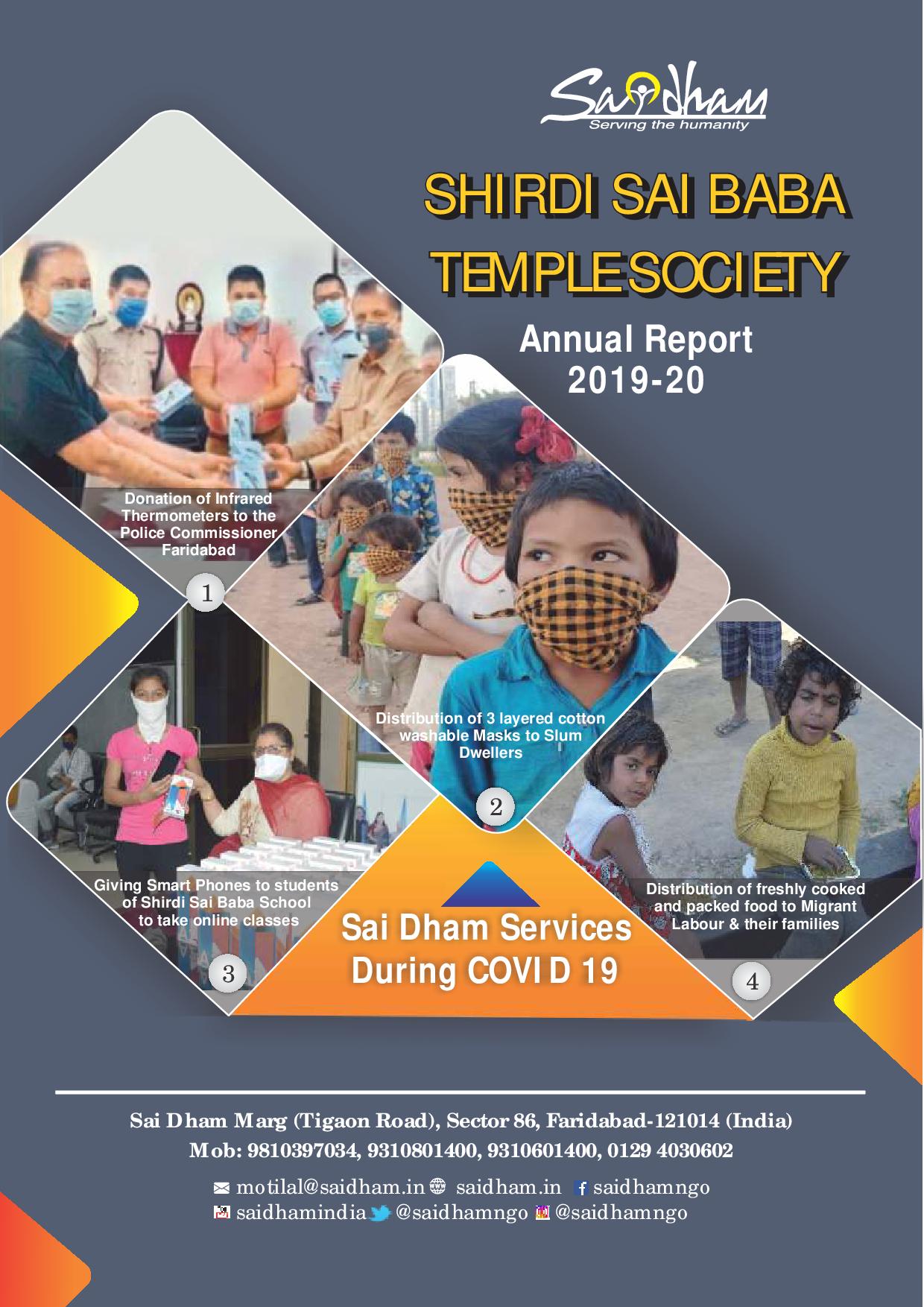 Saidham Annual Report 2018-19