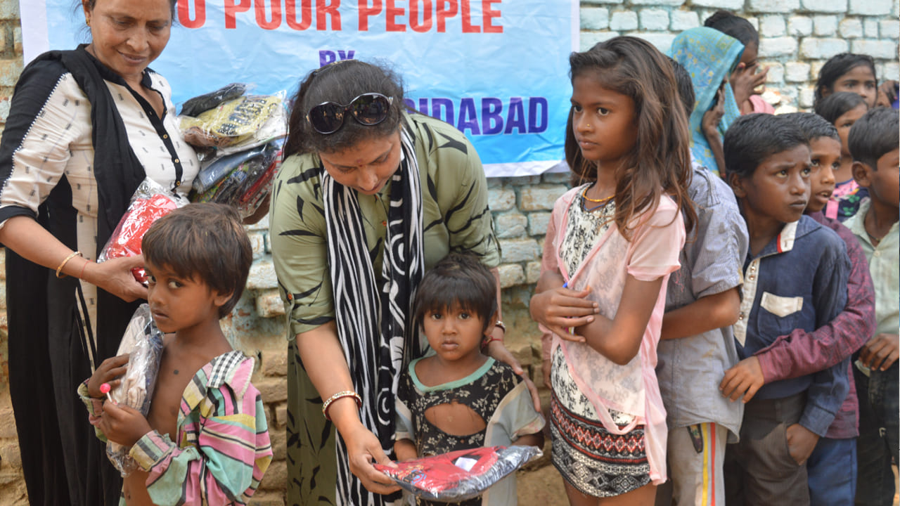 Clothes Distribution in Bundelkhand a