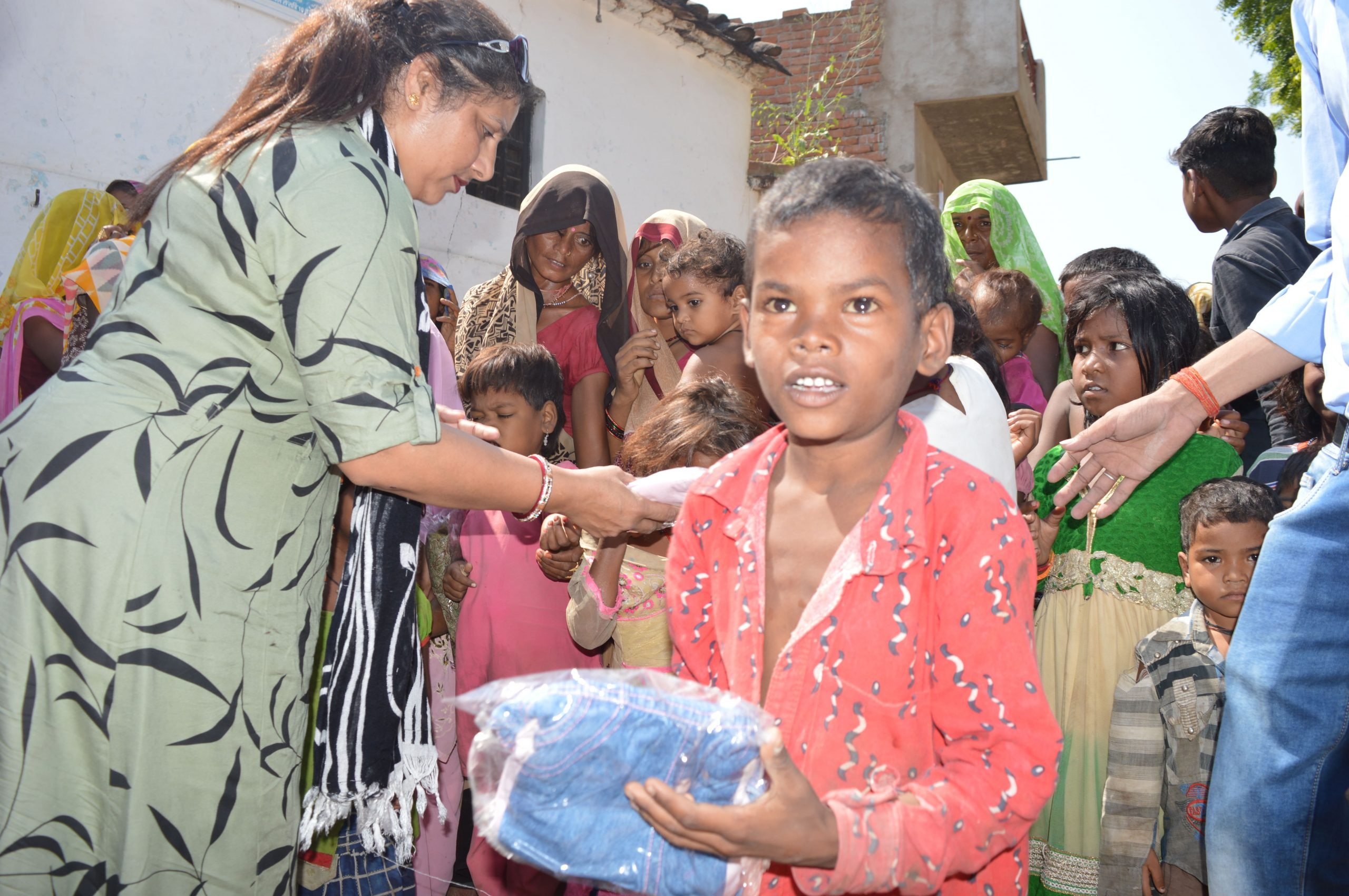 Clothes Distribution in Bundelkhand