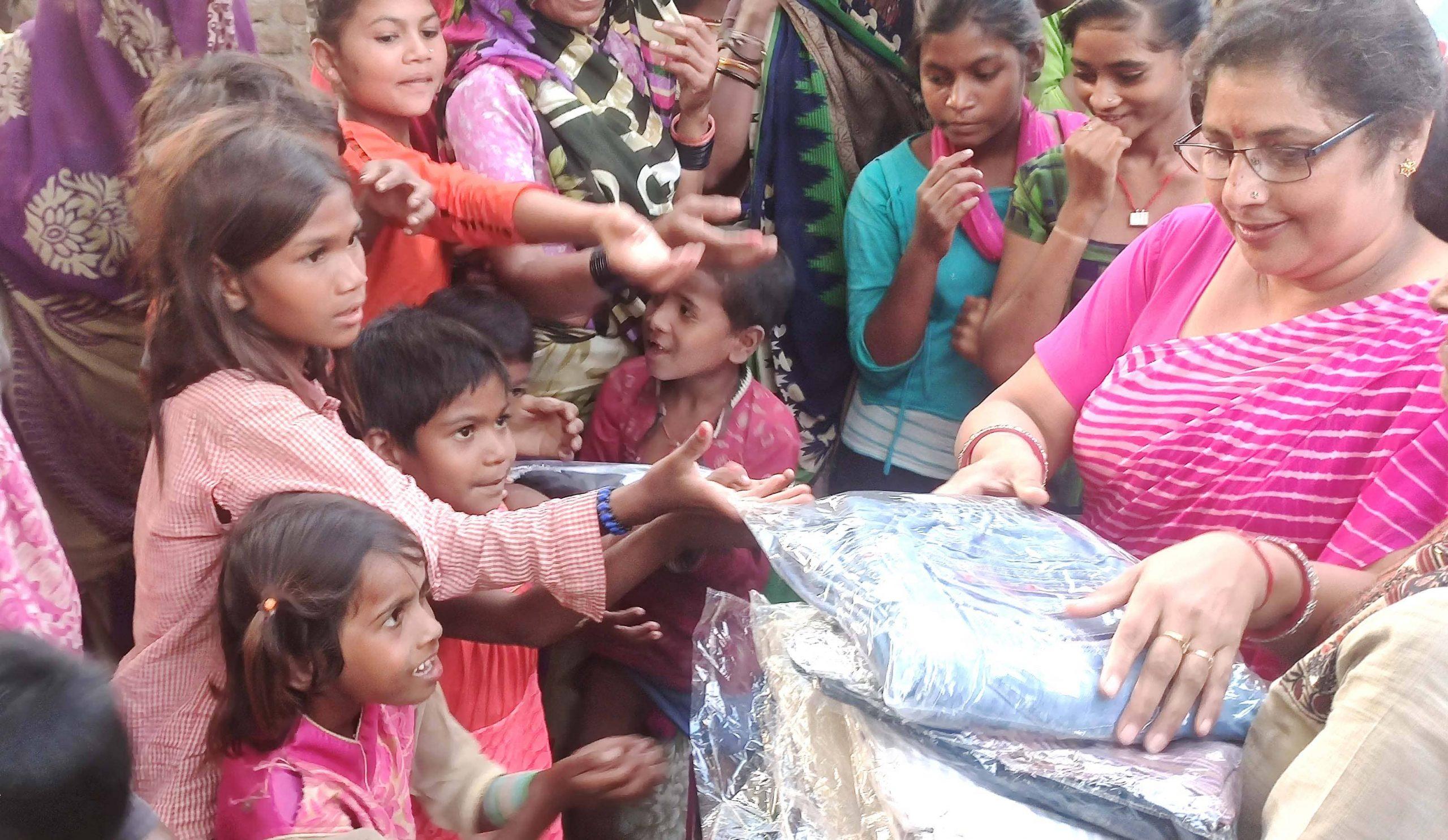 Clothes Distribution in Garoli Bundelkhand