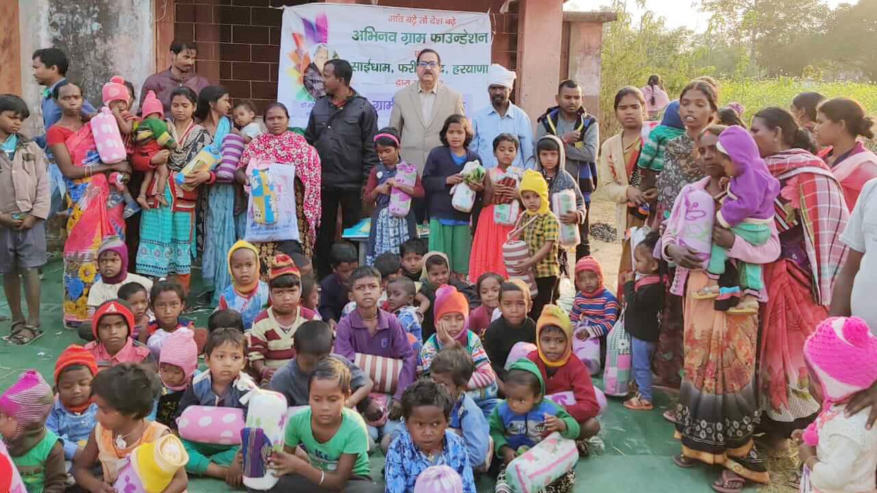 Clothes Distribution in Jharkhand aa