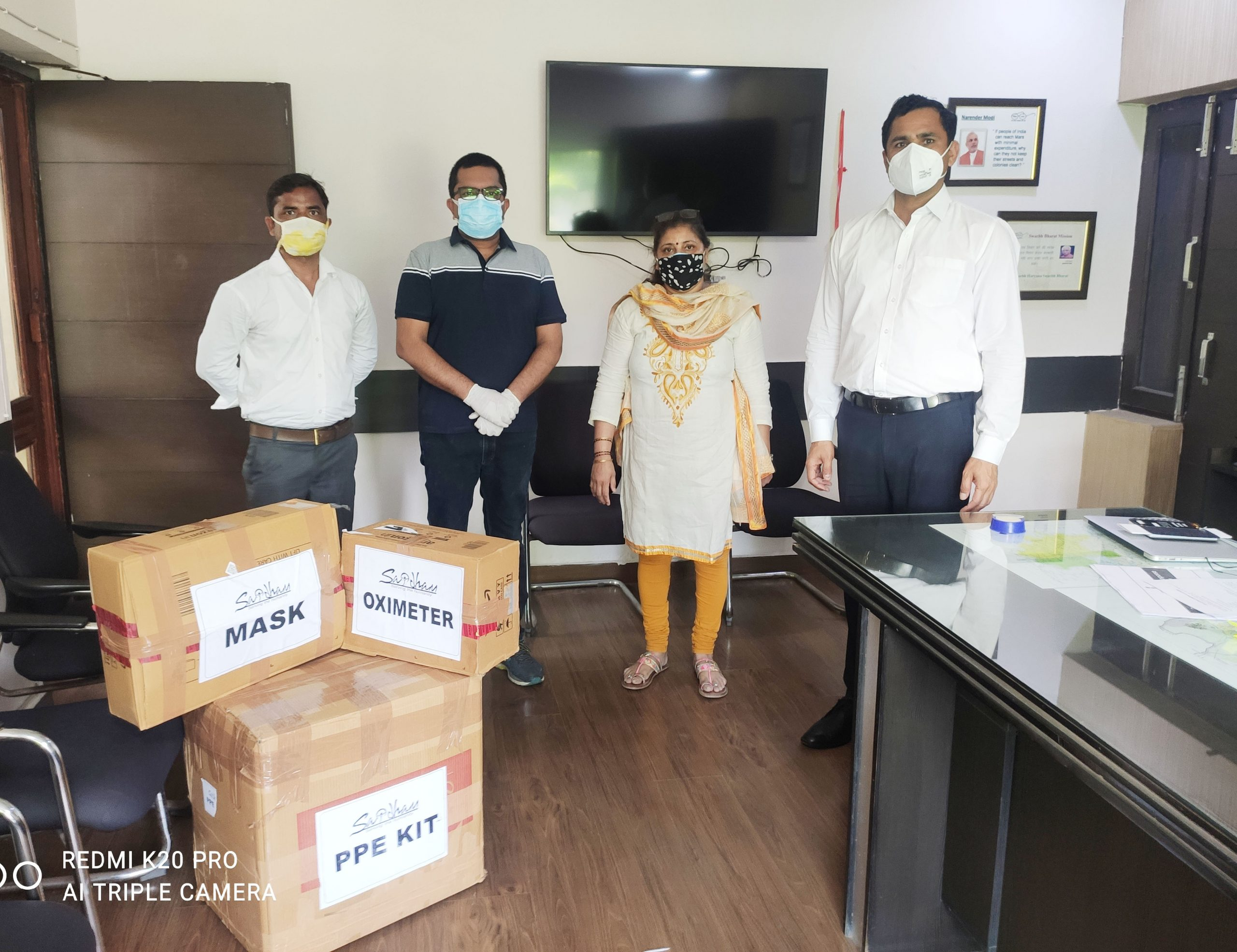 PPE Kit Distribution in Faridabad 1