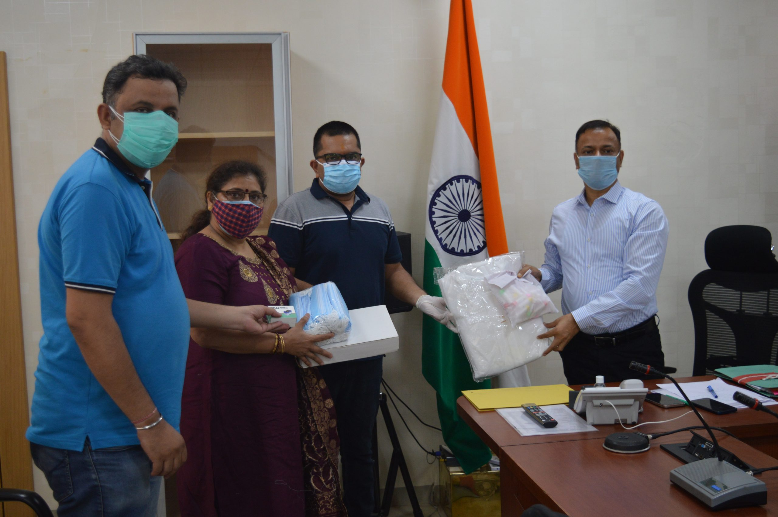 PPE Kit Distribution in Faridabad 2