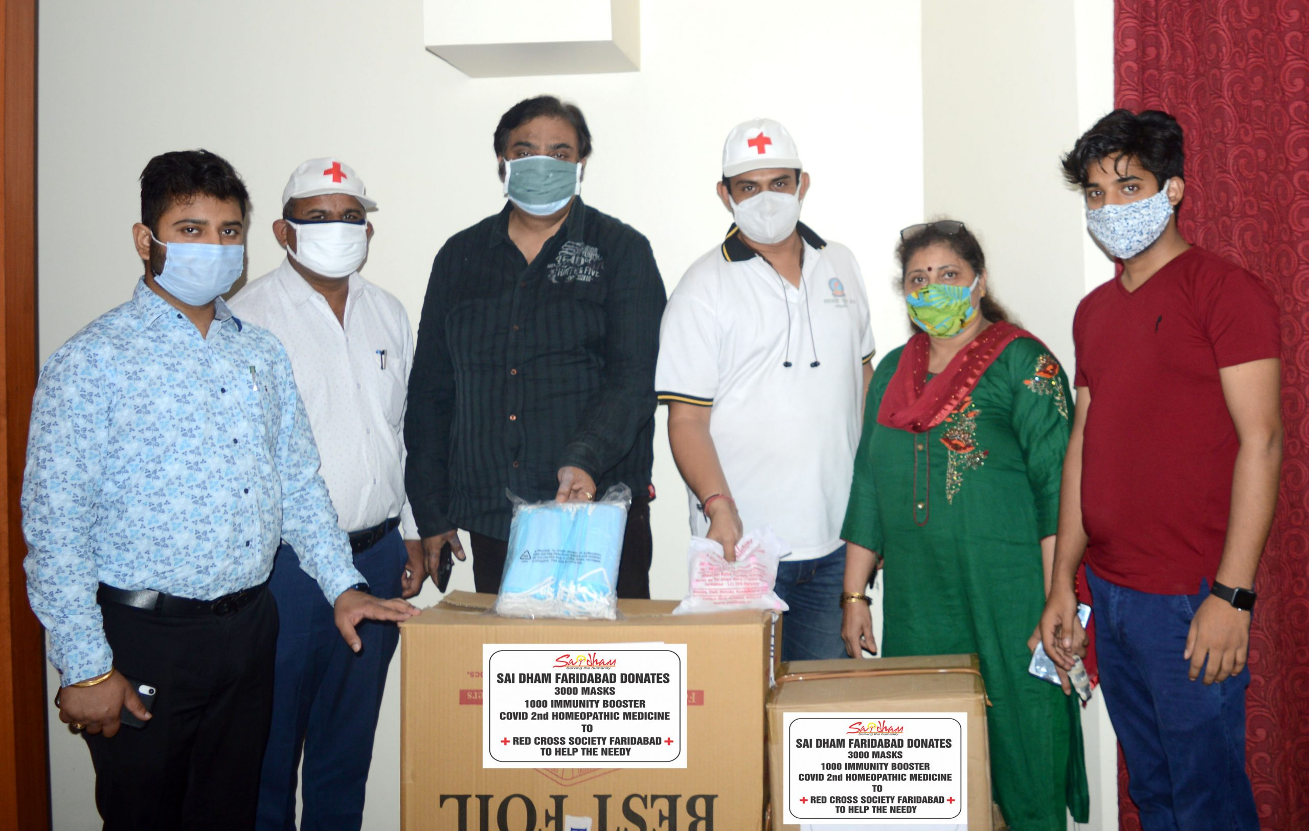 PPE Kit Distribution in Faridabad 3